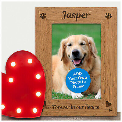 Dog Cat Pet Loss Remembrance Memorial Photo Frame - Personalised Pet Memorial
