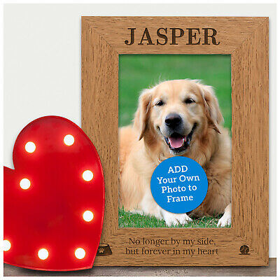 Personalised Pet Loss Remembrance Photo Frame - Dog Cat Pet Memorial Photo Frame