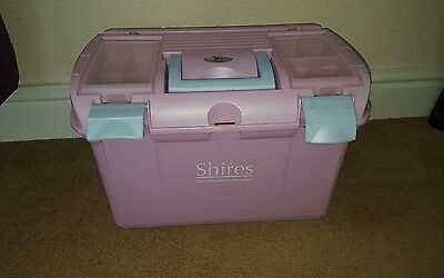 Horse Grooming box and brushes