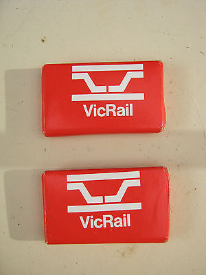 Two VINTAGE Soaps. Made for VicRail. Never used. Train Railroad Railway