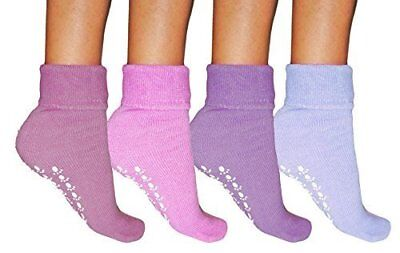 12 PAIR Women Slipper Gripper Warm Non-Skid Fluffy Bed Socks Thermal Size 4-7