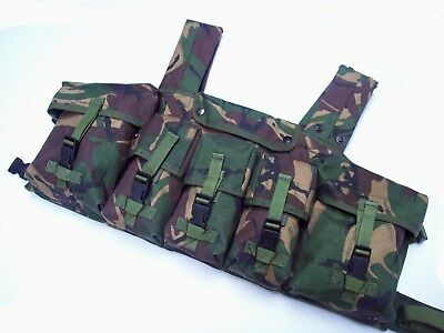 NEW - Genuine MoD Issue PLCE Chest Webbing Rig - Woodland DPM
