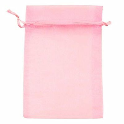 Beadaholique Organza Drawstring Gift Bags 4 by 6-Inch Light Pink