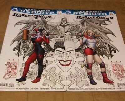 Harley Quinn 24 25 Frank Cho variant covers cover connecting Rebirth 2017 Joker