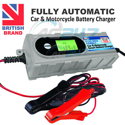 6v/12v 4A 3-120Ah Automatic Smart Leisure Car Bike Motorbike Battery Charger BC1