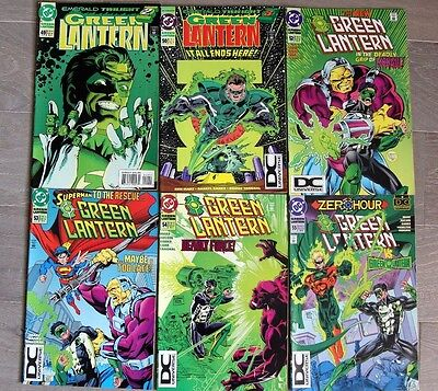 Green Lantern Emerald Twilight (Partial set) and first appearance of Kyle Rayner