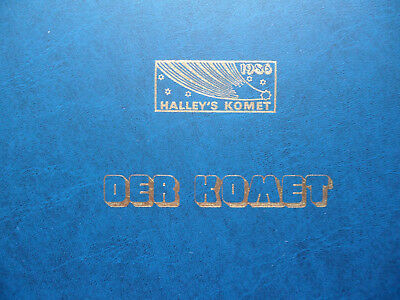 Briefmarken Album HALLEY´s KOMET 1986 Jahrhundertereignis DOKUMENTATION Lindner