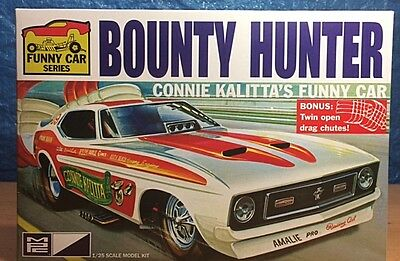 "MPC 1972 Ford Mustang Funny Car ""Bounty Hunter"" 1/25 #MPC788/12 Plastic Kit"