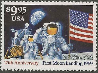 UNITED STATES 1984 $9.95 25th Anniversary of FIRST MOON LANDING 1969 superb NHM