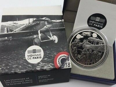 France 2017 Grande Guerre 10 euro € Silver Proof Homes et Les Femmes 1917 War