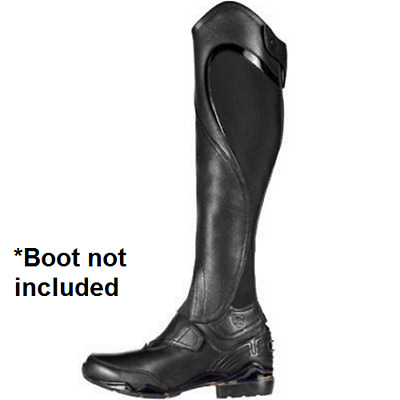 Ariat Volant Fusion Chap black half chaps leather gaiters please read sizing
