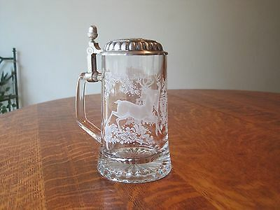 Clear Glass Deer Stien