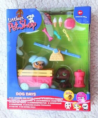 Rare & Retired Littlest Pet Shop: Dog Days (Perritos Juguetones, 77 & 84). Bn Os