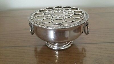Vintage Viners Silverplate Posy/Rose Bowl