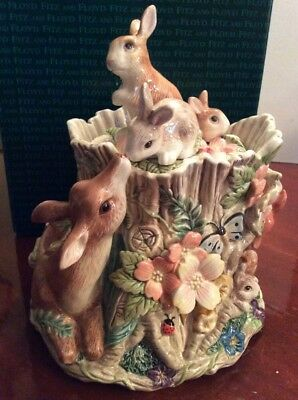 """Fitz and Floyd """"Woodland Spring Centerpiece Cookie Jar"""" Limited Edition"""
