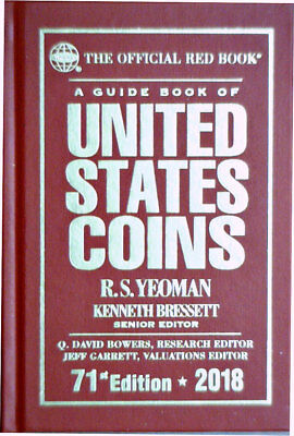 2018 Guide Book Of United States Coins Official Red Book Hard Back R.S. Yoeman