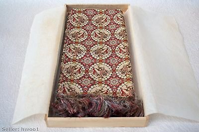 Japanese Tatsumura Pure Silk Centerpiece w/ original wooden box and leaflets