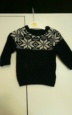 Next Boys 3-6 Months Winter Fairisle Jumper Christmas