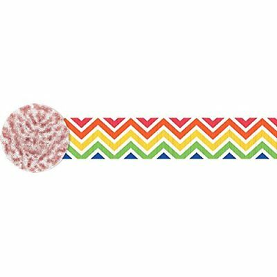 Amscan International 180162 4.4 cm x 24 m arcobaleno chevron crepe (P2X)