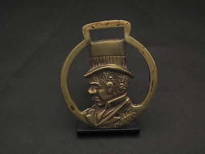 Vintage The Cabby Brass Bridle Medallion Tack Horse Decorative
