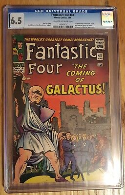 Fantastic Four #48 Marvel 1966 1st Silver Surfer Galactus Lee Kirby CGC 6.5 FN+