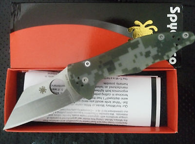 New Box C85 Camouflage Spyderco Pocket Knife Camping Folding Knife Self Defense