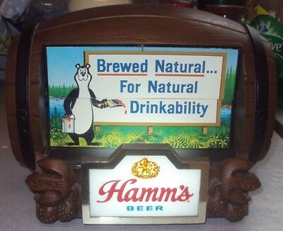vintage hamms beer barrel flip sign great shape!!!