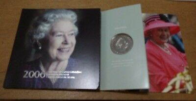 United Kingdom Commemorative Crown- 2006-QEII 80th Birthday-Mint-Sealed