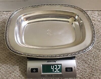 Antique Reed and Barton #965 Sterling Silver Tray  432grams-- Has monogram
