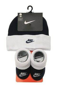 Nike Baby Block Hat and Booties Unisex Babies Boys Girls