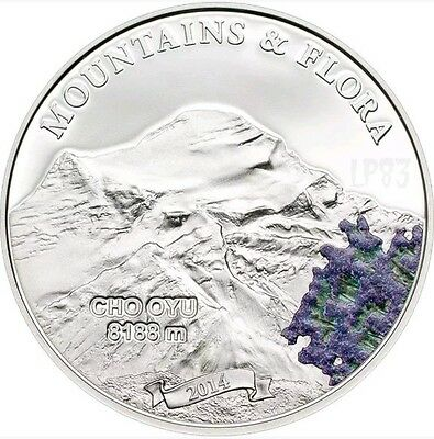 Palau 2012 $5 Mountains /& Flora 2012 Chimborazzo Ecuador 20g Silver Proof Coin