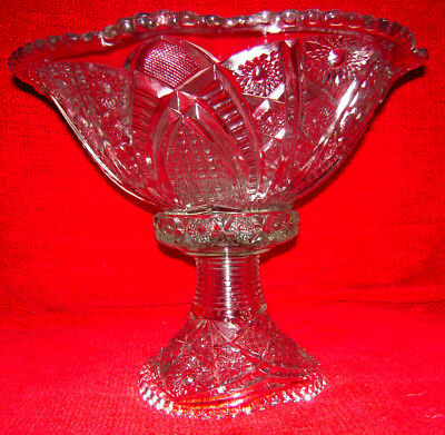 Antique American Brilliant Crystal Vintage Centerpiece Early 1900's