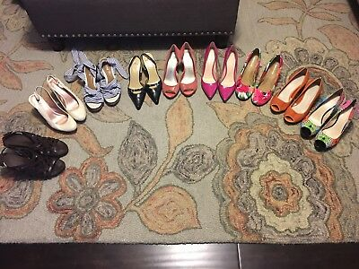 LOT of 9 Pairs of Womens Shoes SIZE 9 - 9.5