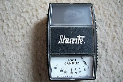 Vintage Shurite Foot Candle Light Meter