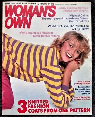 Woman's Own Magazine February 11 1978 -  Michael Caine Article