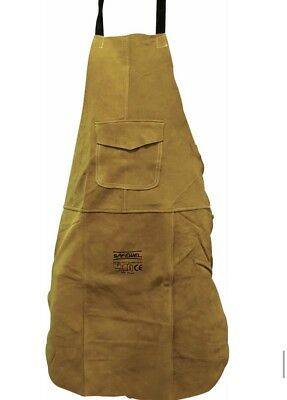Premium Gold Leather Welders / Welding / Carpenters / Gardeners Safety Apron