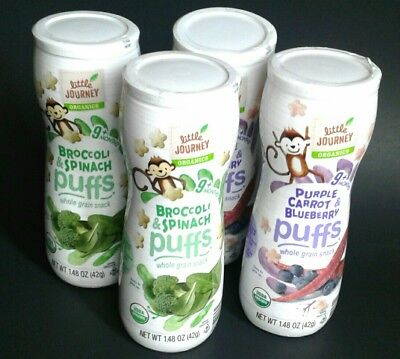 Organic Puffs vegetable baby food snack * Little Journeys * 4 pack * 1.5 oz. ea