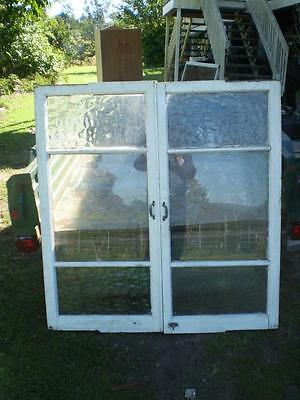 2 large vintage casement windows ready for your reno, clear and bubble glass