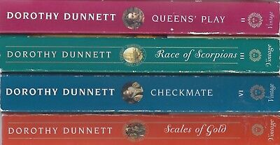 Dorothy Dunnett X4 lot Queen's Play Race Scorpions Checkmate Scales Gold lymond