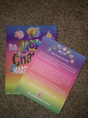 RARE box of only Lucky Charms marshmallows + letter