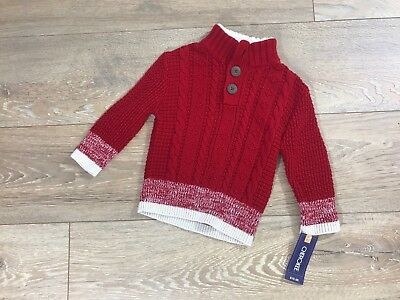Cherokee  red boy sweater size 12 Month wool Blend New