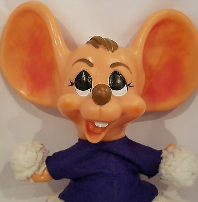 Roy Des of Florida Plastic Cheerleader Mouse Coin Bank Vintage 1970