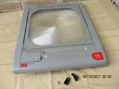 3M  9100  Top Cover/Glass/Fresnel lens/ Power Switch. 9100  3M Projectors.