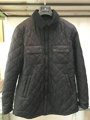 Barbour Devon Ackenside Large Quilted Dark Blue Jacket Coat