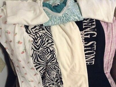 Lot of 8 Size Medium and Large Pajama Thermals Sweat Pants Lounge Wear