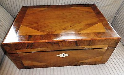 Antique wooden Lap desk Box, Correspondence box, inlaid, gorgeous piece