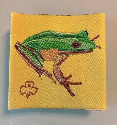 Girl Guide Collectable Fauna Frog Amphibian Camp Blanket Cloth Badge Patch