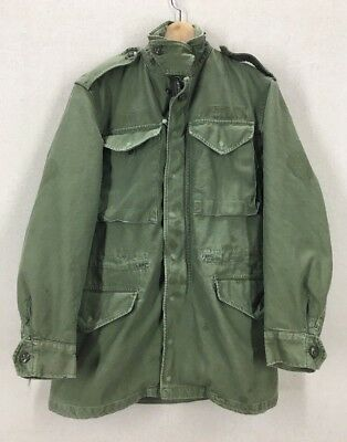 Vintage 60's US Army M65 Olive Green Field Jacket Sz X-Small