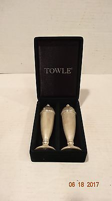 Vintage Towle Salt And Pepper Shaker Set Original Box Nice Set
