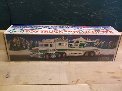 1995 Hess Toy Truck And Helicopter Mint In Box
